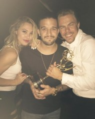 """Celebrating with the man of the hour Derek Hough wouldn't miss this night for the world :)"" - Emmy Awards - September 12, 2015 Courtesy markballas IG"